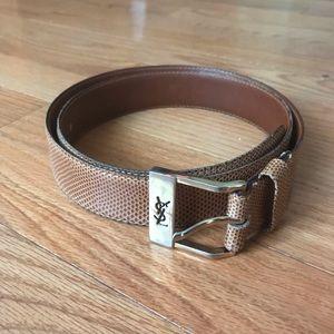 Vintage Yves Saints Laurent Men's Leather Belt